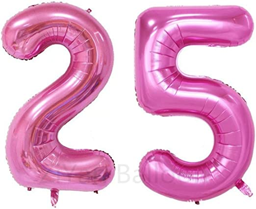 40Inch PINK Number 3 Foil Balloons Year Old Birthday Party Supplies Decorations