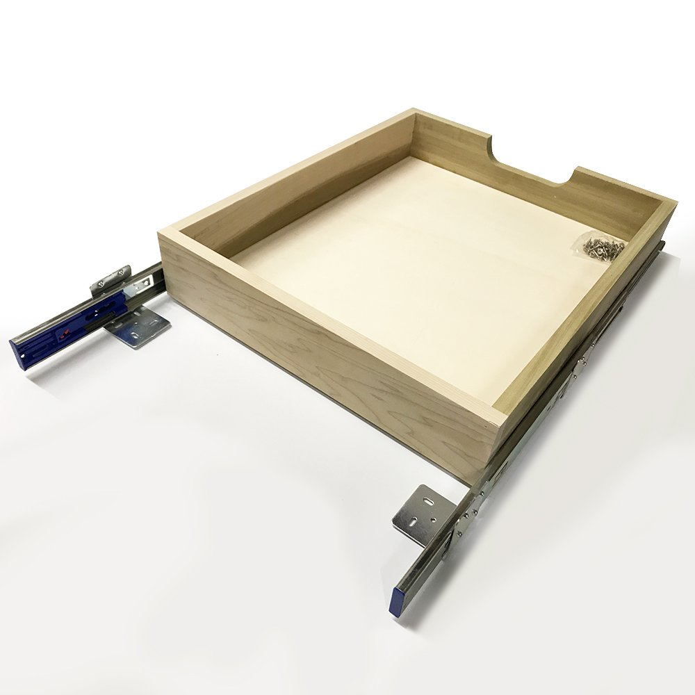 Cabinet Box, Poplar wood drawer box with soft close slide and brackets, 12'' width x 18''depth x 4'' height, MD5