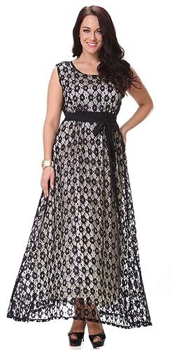 Yacun Women's Swing Bridesmaid Dress Lace Maxi Evening Gown Dresses Plus Size