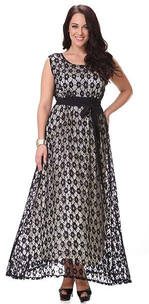 Yacun Women\'s Swing Bridesmaid Dress Lace Maxi Evening Gown Dresses Plus  Size