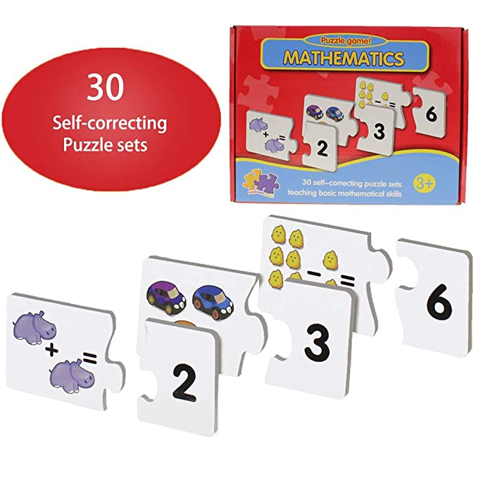 Number Math Toys Toddler Puzzles - Baby Preschool Learning Counting Number  Puzzle Game Educational Activities for
