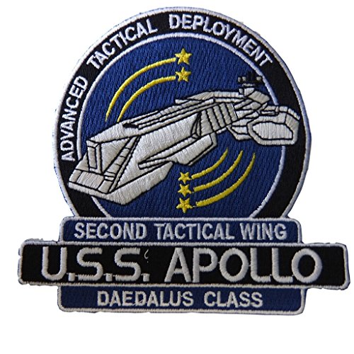 Stargate Series Atlantis U.S.S. Apollo Second Tactical Wing Daedalus Class Advanced Tactical Deployment Embroidered Patch Decorative (Atlantis Costumes)