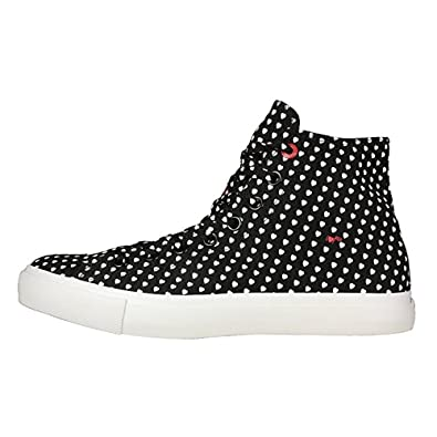 7151346d6ad6 Converse Chuck Taylor All Star RED Women s Black with White Hearts 114021F  (Men s 8