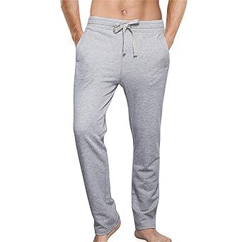 Dutuy Mens Cotton Sleep Bottoms Pajamas Lounge Pants ...