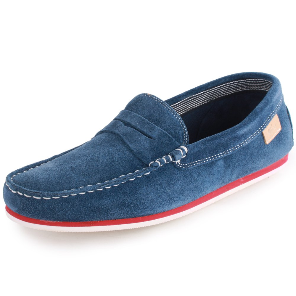 d2a19c320166 Lacoste Chanler 2 Mens Suede Loafers Dark Blue 10 UK  Amazon.co.uk  Shoes    Bags