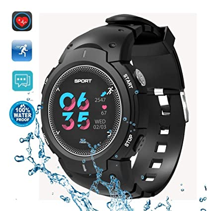 Amazon.com: DTNO.1 Sports Smart Watch,IP68 50M Waterproof ...