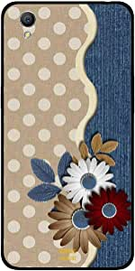 Oppo A37 Case Cover Brown and White Flower, Moreau Laurent Premium Phone Covers & Cases Design