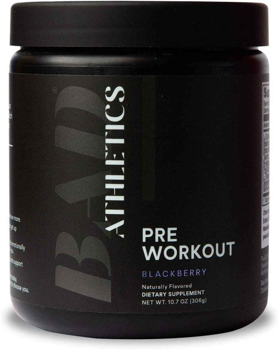 Bad Athletics BlackBerry Pre-Workout for Women, Energy to Show up, Focus to Put in The Work, and Endurance to do More!