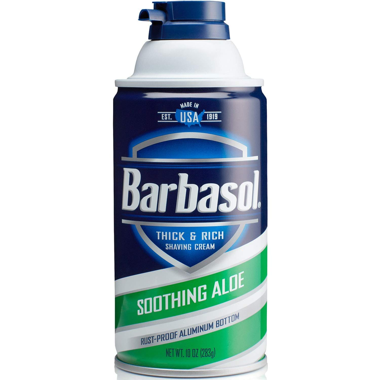 Barbasol Soothing Aloe Thick & Rich Shaving Cream 10 Oz (2 Pack)