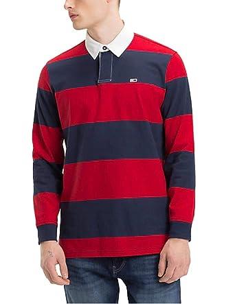 Polo Tommy Jeans Classics Rugby Rojo: Amazon.es: Ropa y accesorios