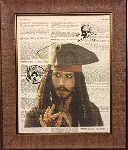 Jack Sparrow Pirates of the Caribbean Movie Dictionary Book Page Artwork Print Picture Poster Home Office Bedroom Kitchen Wall Decor - unframed Captain Jack Sparrow Poster