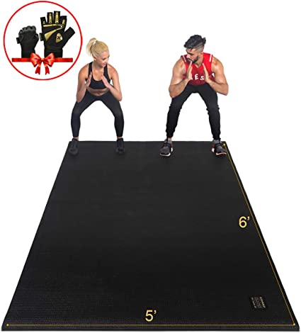 Amazon Com Gxmmat Large Exercise Mat 6 X5 X7mm Non Slip Workout