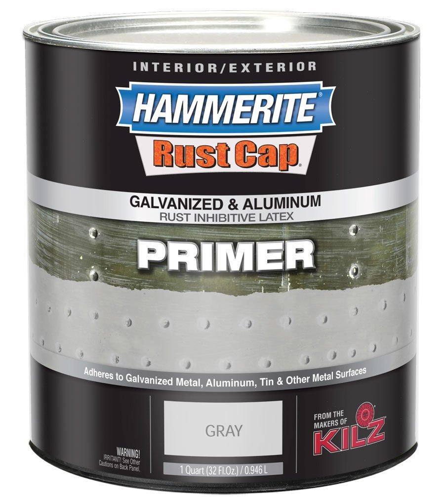 Hammerite 48300 Rust Cap Rust Preventative Paint Hammered Gray Primer 1 Qt Ebay