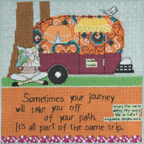 Girl Cross Stitch (Off Your Path Beaded Counted Cross Stitch Kit Mill Hill 2014 Curly Girl CG304103)