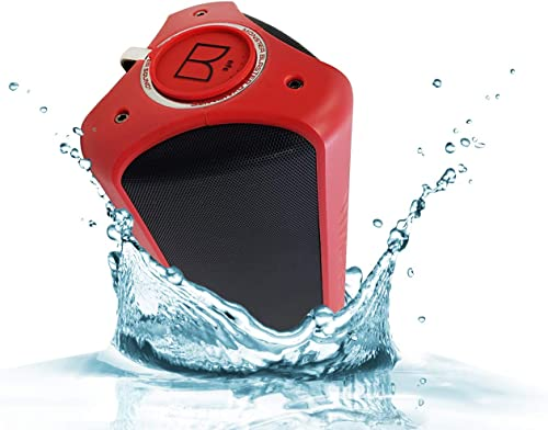 Monster Dynamite IPX7 Waterproof – Bluetooth Wireless Speaker High Performance Portable Bluetooth NFC Pair Wireless with Carrying Strap Key AUX Wire Retail Packing