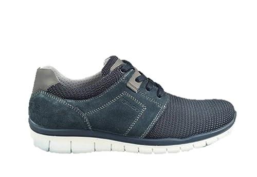 IGI&CO 3118300 Sneakers Scarpe Uomo in Pelle Blu Casual ...