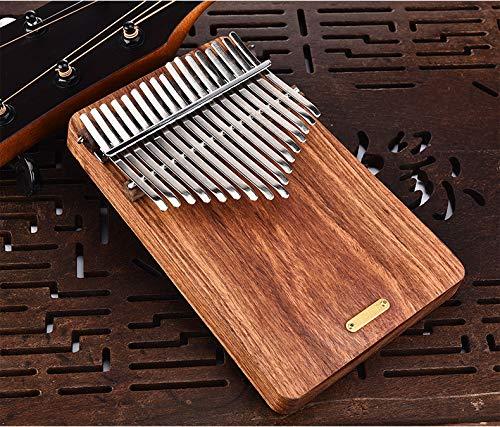 17 keys Kalimba Thumb Piano kit,Portable Thumb Piano Pterocarpus Erinaceus Wooden Body with Tuning Hammer,Pickup,Decorative Tassel Chain,Tremolo chain,Carry Bag by Yosoo- (Image #5)