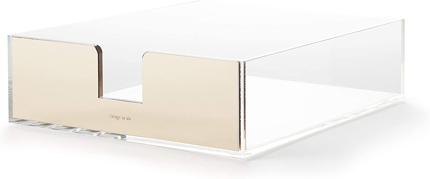kate spade new york Acrylic Letter Tray, Gold
