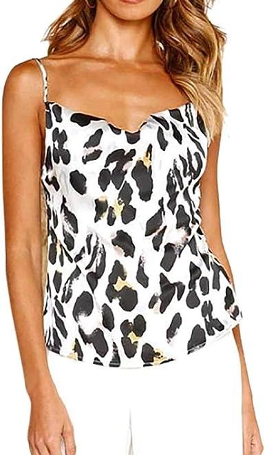 Camisetas sin Mangas de Verano para Mujer Camisas Mujer Fiesta Leopardo Camiseta de Tirantes Mujer Camiseta Deportiva Camisa de Verano sin Mangas Camisola Tops: Amazon.es: Ropa y accesorios