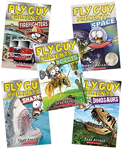 Fly Guy Presents 5 Book Set: Fly Guy Presents Insects, Fly Guy Presents Dinosaurs, Fly Guy Presents Space, Fly Guy Presents Sharks, Fly Guy Presents Firefighters