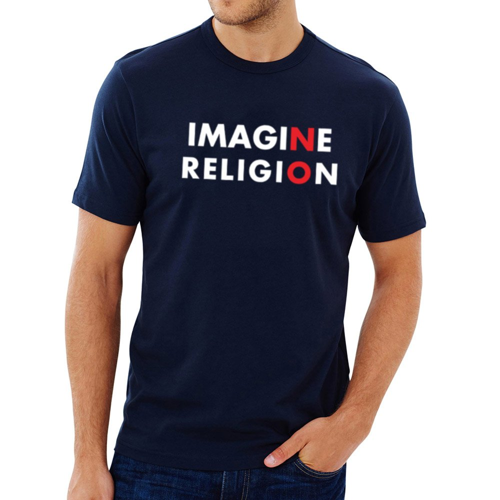 Loo Show S Imagine No Religion Atheist Casual T Shirts Tee