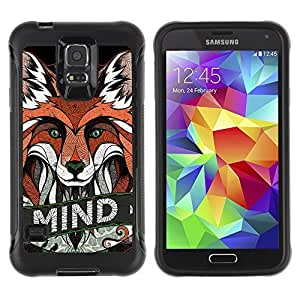 Hybrid Anti-Shock Defend Case for Samsung Galaxy S5 / Clever Fox