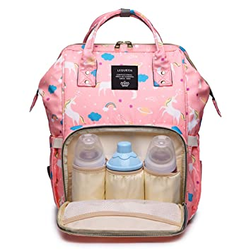 LEQUEEN Baby Diaper Bag Multi-Function Baby Diaper Backpack Nappy Trave Backpack