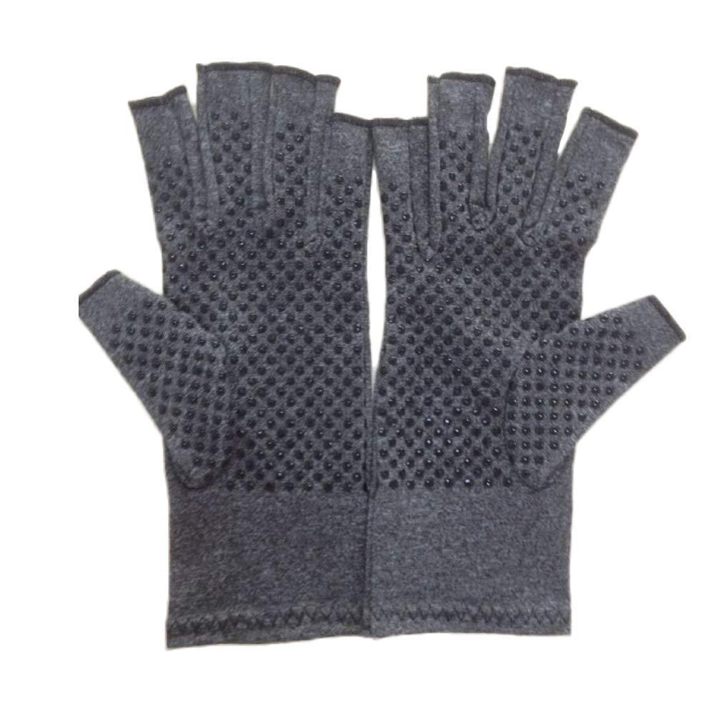 Healifty Arthritis Handschuhe Kompressions Handschuhe Fingerlos für Schmerzlinderung S (Grau)