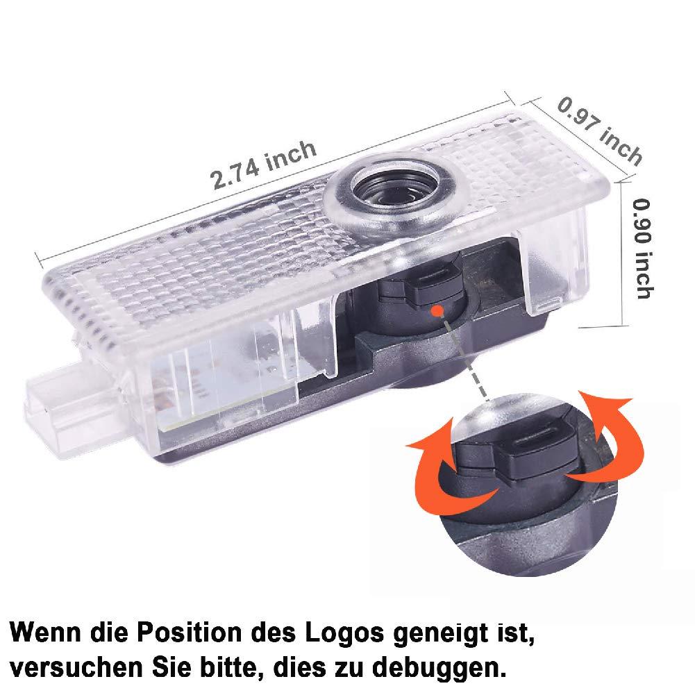 4 St/ück Autot/ür Logo T/ürbeleuchtung Projektion Licht Willkommen Einstiegsbeleuchtung