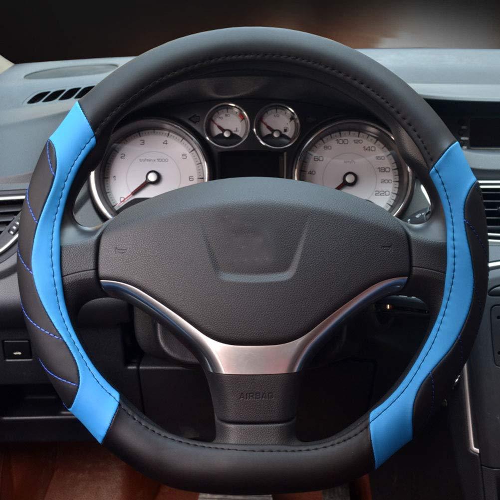 Blue Lisaion Needle Heading Wheel Covers Universal 15 pollice con morbida fibra di pelle Braid per Auto Truck SUV