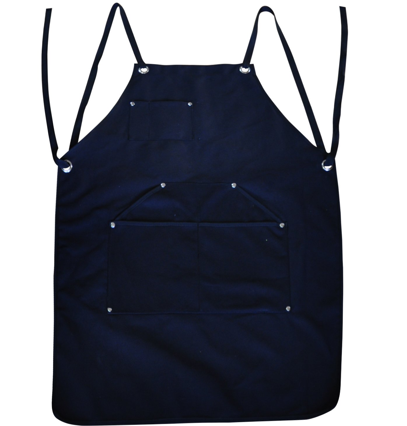 BroilPro Accessories Durable Goods - Deluxe Edition - Waxed Canvas Tool Apron - Upgraded with Padded Straps, Quick Release Buckle & Dual Hammer Loops, Adjustable M to XXL