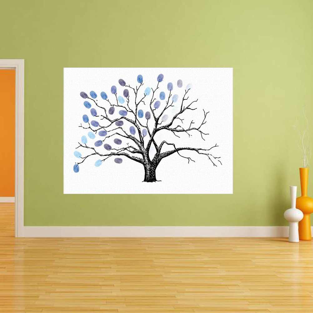 WINOMO Fingerprints Tree DIY Guest Sign-in Book Fingerprint Painting ...