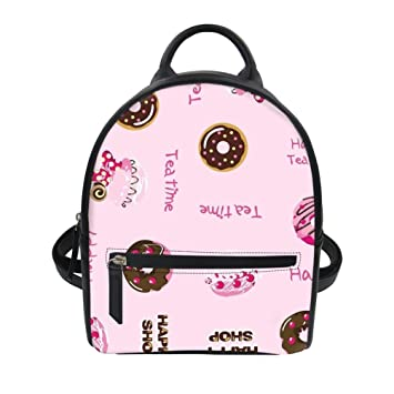 Amazon.com   Cute Mini Backpack Purse for Girls Personalized Printed Pu  Leather Shoulder Bag   Kids  Backpacks 6a8d4ae599