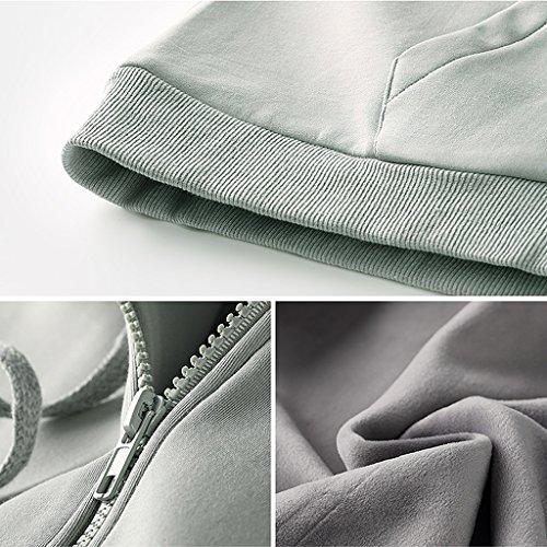 Donna Con Shop S A Cerniera Shi Maniche E Li Dimensioni Sciolto Xiang Inverno Lunghe colore Blusa Cappotto Autunno E Sq7wnfH