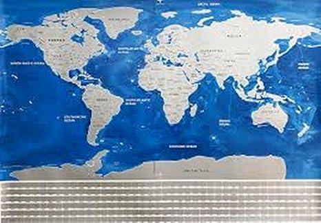 Amazon scratch off world map poster blue ocean office products scratch off world map poster blue ocean gumiabroncs Choice Image