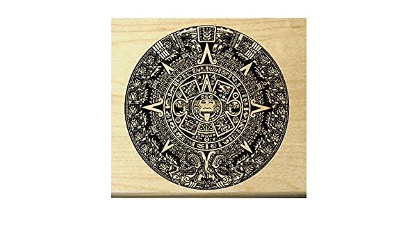 Aztec Calender Rubber Stamp WM P25