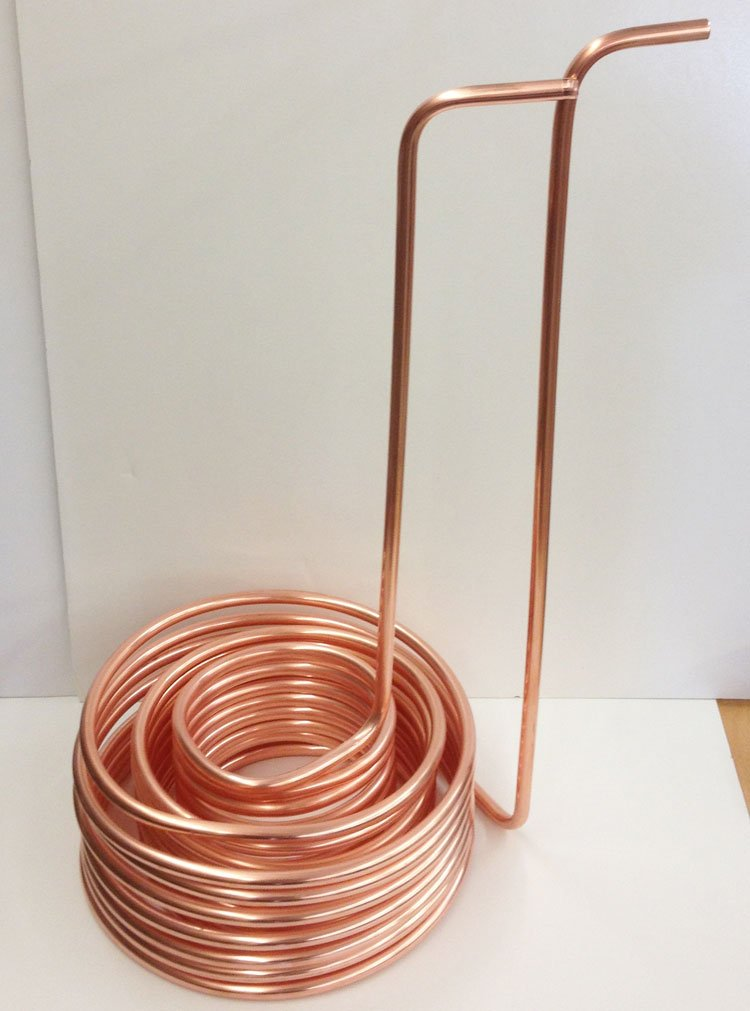 Quick Chill Triple Coil Immersion Wort Chiller, 3/8″/50′, Copper