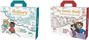 Lulu Jr. Illustory Book Making Kit, Multicolor & My Comic Book Making Kit, Multicolor