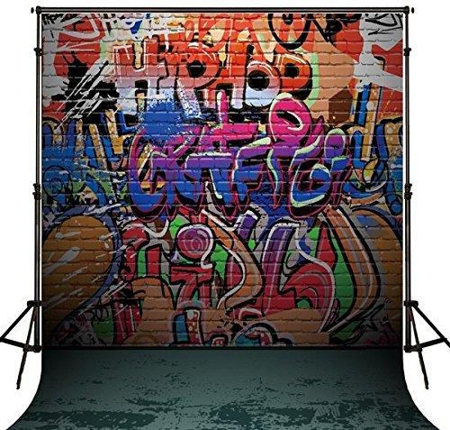 5X7FT hip hop photo backdrop Flannelette cloth Computer printed wall Background (Hip Hop Backdrop)