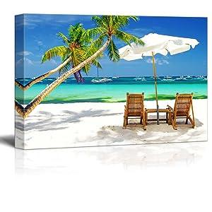 "Wall26 - Tropical Vacation at The Beach - Canvas Art Wall Decor - 24"" x 36"""