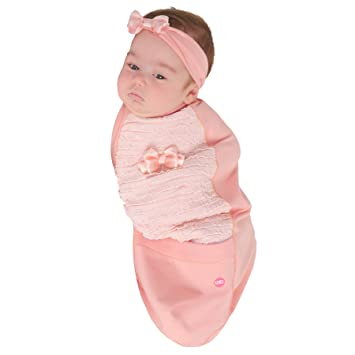 815cd3b686e Amazon.com  Cozy Cocoon - Baby Cocoon Swaddle   Headband - Coral ...