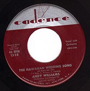 Andy williams the hawaiian wedding song the house of for 45 house music