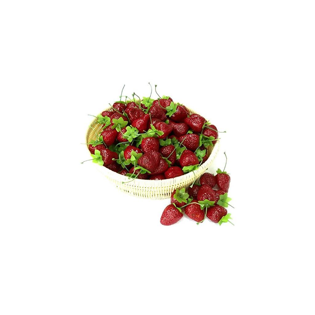 Gresorth-30pcs-Artificial-Lifelike-Simulation-Small-Dard-Red-Strawberry-Set-Decoration-Fake-Fruit-Home-House-Kitchen-Decor