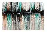 Original Fluid Acrylic Abstract on Three 10'' x 20'' Stretched Canvases ''Cascading''