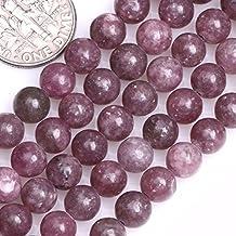 GEM-inside 6mm Round Purple Tourmaline Beads For Jewelry Making Beads