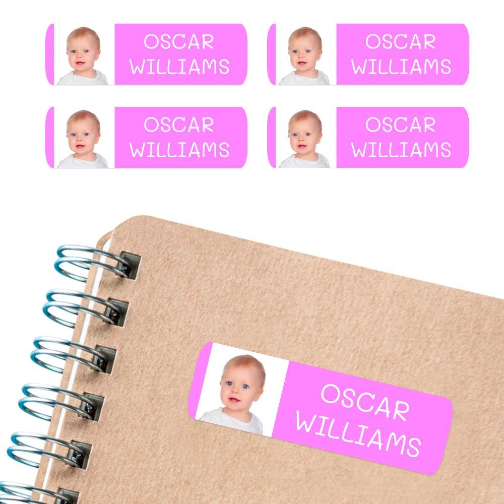 libros con foto o imagen fiambreras Color Amarillo Basico para marcar objetos etc de 6 x 2cms 50 Etiquetas Adhesivas personalizadas