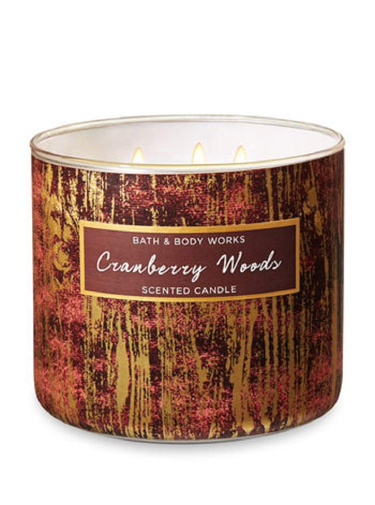 Bath & Body Works 3-Wick Scented Candle in Cranberry Woods by Bath & Body Works (Image #1)