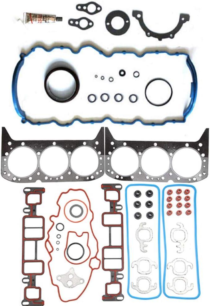 LSAILON Auto Parts CS9354-3 Engine Kits Lower Crankcase Conversion Gasket Sets Compatible with 1996-2006 Chevrolet GMC Isuzu Oldsmobile