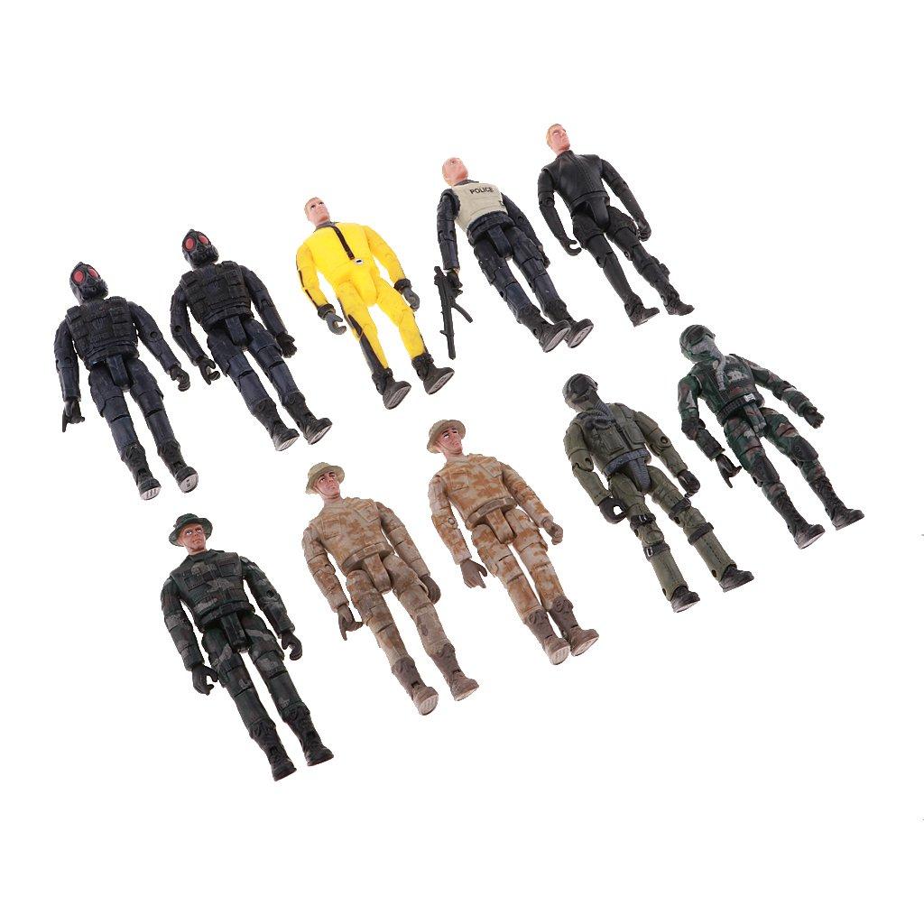 FLAMEER 10x Figuras De Soldados Modelo Militar Kits De Construcci/ón Modelo DIY Disposici/ón Paisaje