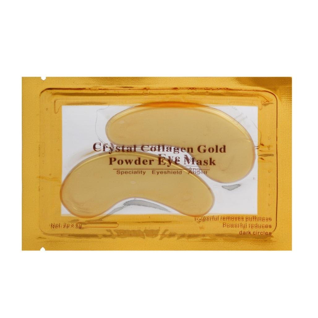 TRENDINAO 1 PC 24k Gold Eye Collagen Mask Aging Wrinkle Under Crystal Gel Patch Anti Eye Pad